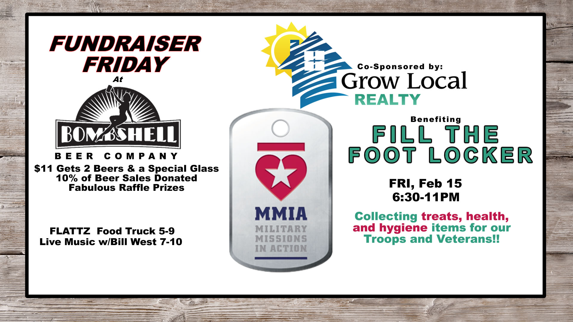 Fundraiser Friday sponsored by Grow Local Realty > Bombshell Beer